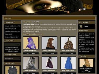 Design and shopping cart application for Khimar Shop