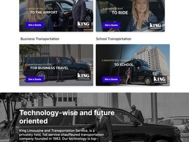 Transportation Website Design