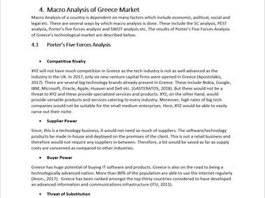 Macro Analysis of Greece Market