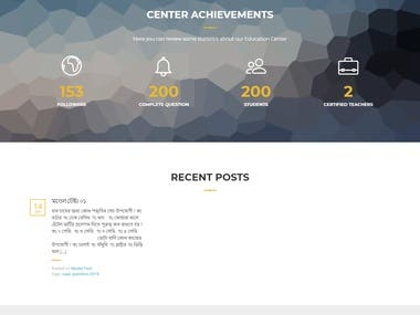 Create a online Course Wordpress site.
