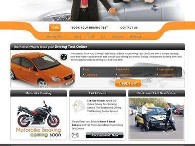 Design and application for Driving test booking site
