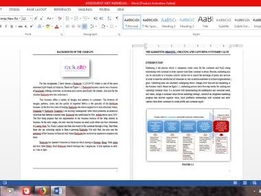 Writing in english & mandarin translation