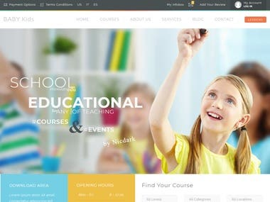 Education Wordpress Website