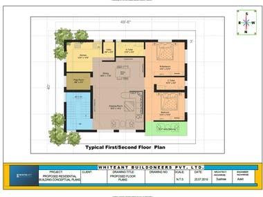 G+3 Residential House Master Plan