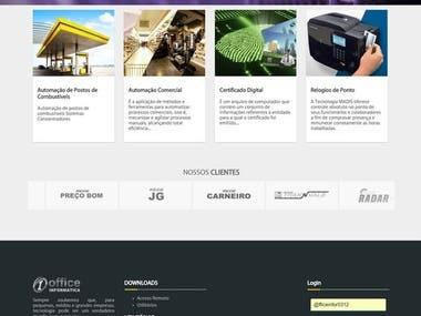 Site para empresas de TI