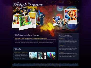 Design and application for Artist forum