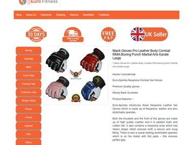 Responsive eBay Listing Template Design