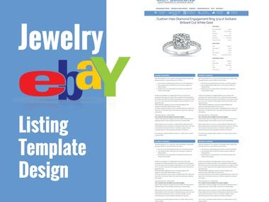 Jewelry eBay template design