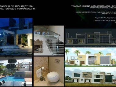ARCHITECTURAL AND INTERIOR DESIGN OF LUXURY HOUSE CAD & SKP