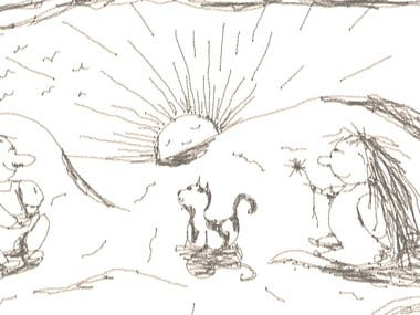 Children's Book Illustration Sketch