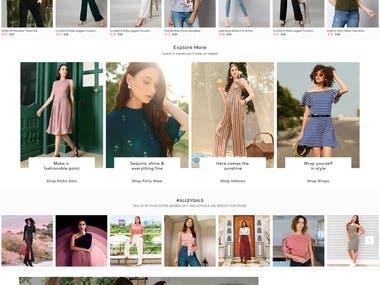 eCommerce Web Platform for Women