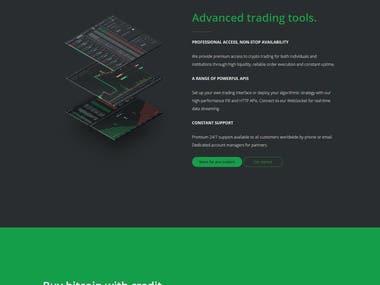 Cryptocurrency Exchange Web Platform