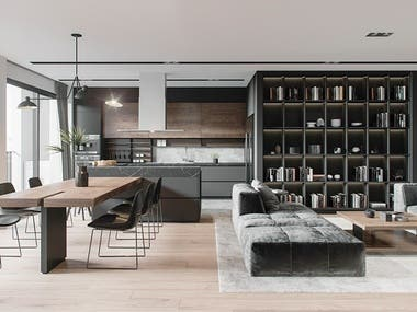 3d architectural interior rendering