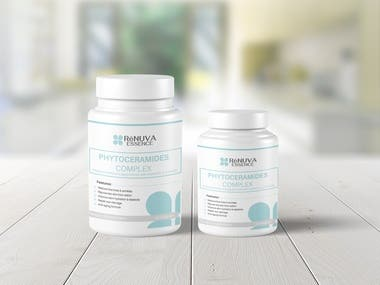 Phytoceramides cosmetic product Label
