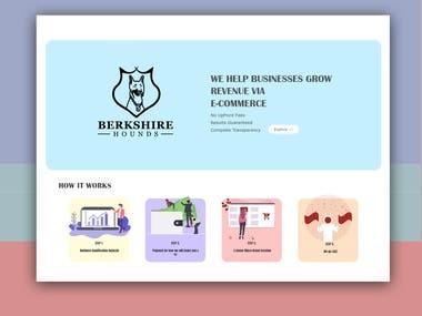 Landing Page Design.