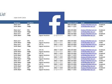 Email scraping from Face book