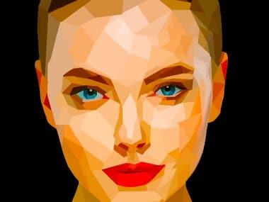 Polygonal Face illustration