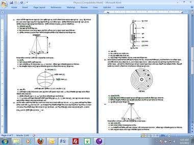 Portfolio on Word and Excel
