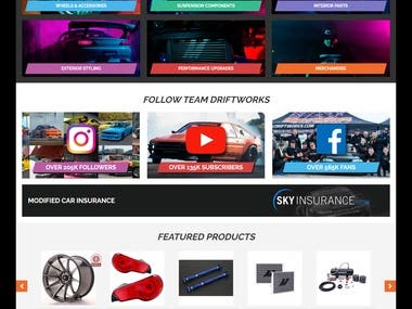 www.driftworks.com (Made by VUKSTUDIO in Magento)