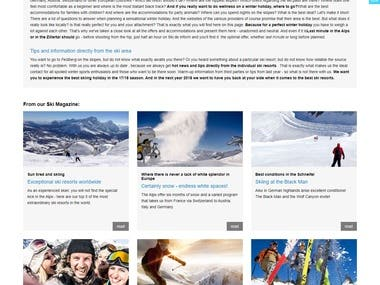www.ski.de (Made by VUKSTUDIO in Laravel)