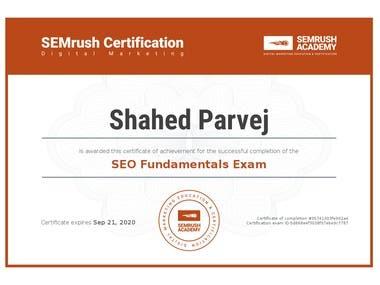 Semrush SEO Certificate
