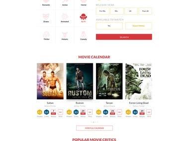 Film Review Website design