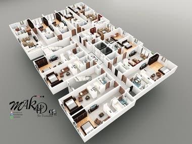 3D/ 2D Floor Plan