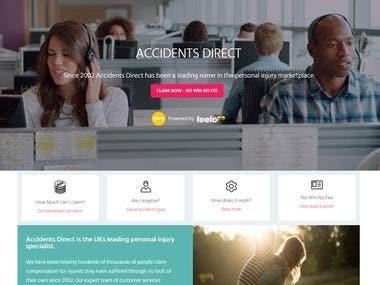 AccidentDirect Website design Using Wordpress