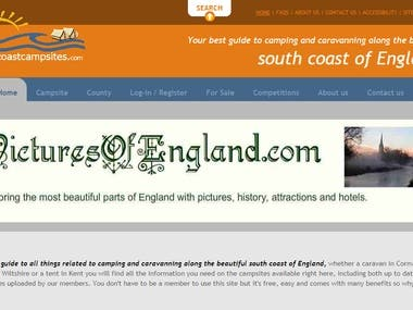 Web Development with WordsPress: South Coast Camp Sites
