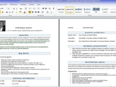 Creating Client Resume
