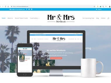Mr. & Mrs. Worldwide - Webpage