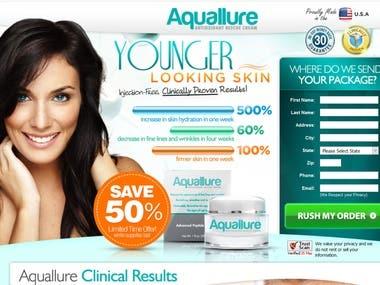 Aquallure Cream- Landing page