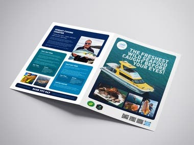 4xA4 pages brochure for Travel & Adventure business