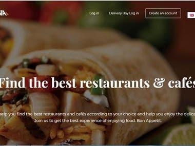 A food ordering portal