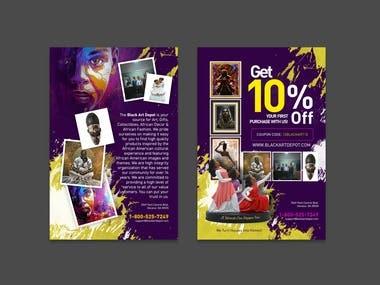 Flyer Design | The Black Art Depot