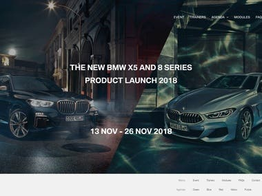 BMW Event Website