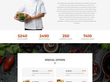Online or pickup food cafe