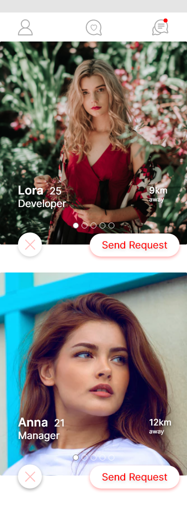 Dating App Main Page Redesign