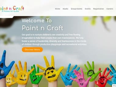 Paint and Craft Art Website Development