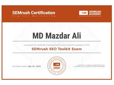 Successfully passed the SEMrush SEO Toolkit Exam
