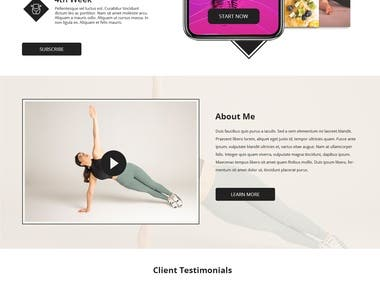 Lubz Fitness (Personal Trainer website )
