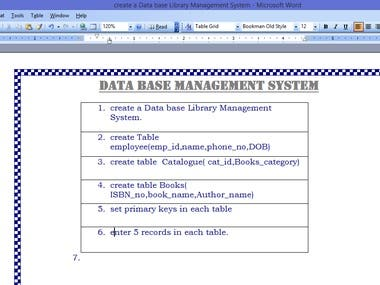 creating question Papers in MS Office