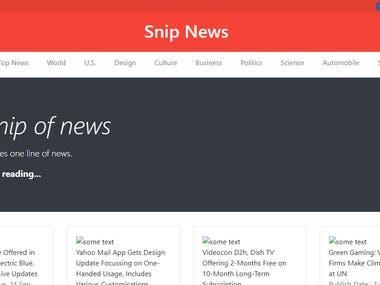News website ( https://snip-news.herokuapp.com/ )