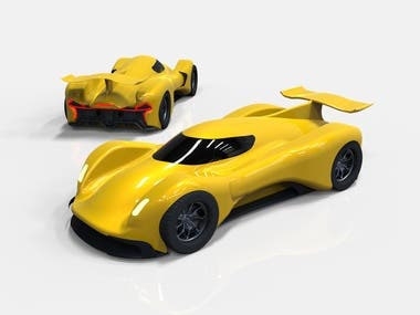 Le Mans duck shape car concept