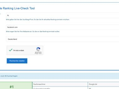 Live Ranking Checker Tool for website users