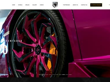LEXANI website - Wheels
