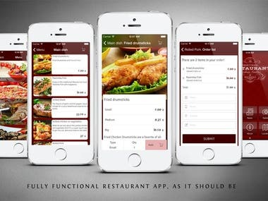 Ionic Food Delivery app