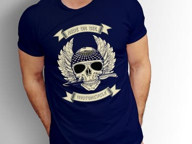 Motor cycle t-shirt design