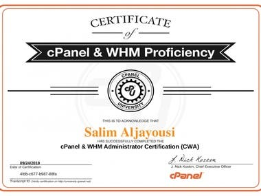 cPanel WHM Certified Professional