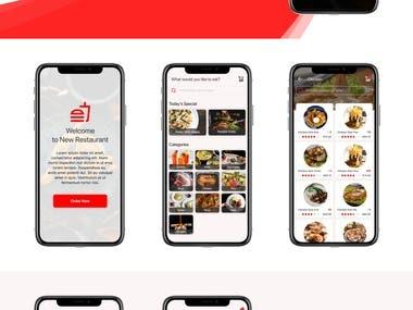 New Restaurant App UI Design